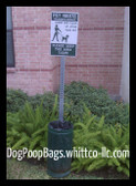 Pet - Dog station trash can Receptacle bags (PWS24325K)