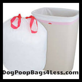 Dog waste station trash can bags WHITE heavy duty 1 mil