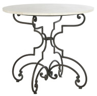 The French and Iron Marble Table