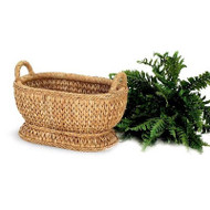 Sweater Weave Oval Compote