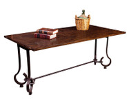 Oak and Iron Flip Top Table