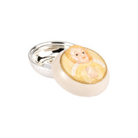 Round Porcelain & Silver  Angel Box