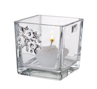 Crystal Candleholder w/ Swarovski Brooch