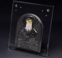 Greek Bishop Plaque W/ Silver & Swarovski Crystal