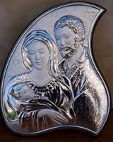 Argento Holy Family Plaque