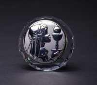 Silver Communion Girl w/ Chalice Favor