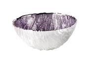 Ghiaccio Small Silver and Glass Bowl