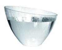 Glass & Silver Large Craquele Bowl