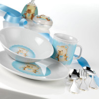 Set 6 pcs Porcelain Baby Teddy