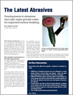Developments in Abrasives and Right Angle Grinders