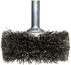 "4"" x .012"" x 1/4"" Shank Mounted Crimped Wire Wheel Brush (Stainless Steel)"