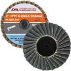 """2""""  Quick Change Flap Discs   Type R   40 Grit Zirconia   LVA FD2-40ZR"""