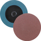 "2"" Quick Change Sanding Disc (Box Qty: 100) | Type R | 80 Grit Aluminum Oxide | LVA RD20AO-80"