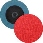 "3"" Quick Change Sanding Disc (Box Qty: 50) | Type R | 36 Grit Ceramic w/ G.A. | LVA RD30CP-36"