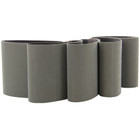 4 x 4 In. Pyramid Structured Abrasive Belts for Metabo Burnishers (Pkg Qty: 5) | P400 Grit (A 45) | Metabo 626407000