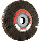 "6"" x 1"" x 1"" Flap Wheel on Flange | 80 Grit Aluminum Oxide | LVA FW600100D080AO"