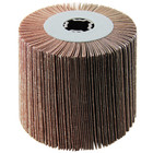 4 x 4 x 3/4 In. Quad-Keyway Abrasive Flap Wheel Drum / Roll | 120 Grit Aluminum Oxide | Metabo 623480000