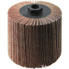 4 x 4 x 5/8-11 In. Threaded Abrasive Flap Wheel Drum / Roll | 60 Grit Aluminum Oxide | Wendt 323103