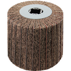 4 x 4 x 3/4 In. Quad-Keyway Interleaf Flap Wheel Drum / Roll | 180 Grit Aluminum Oxide | Metabo 623485000