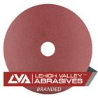 """7"""" x 7/8"""" Premium Resin Fiber Discs (Box Qty: 25)   24 Grit AO   LVA RF70AO-024LVA"""