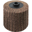 4 x 4 x 5/8-11 In. Threaded Interleaf Flap Wheel Drum / Roll | Coarse / 60 Grit | Wendt 323451