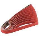 """1/2"""" x 18"""" Ceramic Grain Dynafile Belt (Pkg Qty: 10)   80 Grit CG   Dynabrade 79124"""