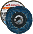 "5"" x 7/8"" Zirconia High Density Flap Disc Type 27 Flat 
