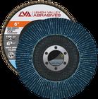 "6"" x 7/8"" Zirconia High Density Flap Disc Type 27 Flat   40 Grit T27   LVA CFFAS60J040ZX"