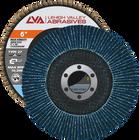"6"" x 7/8"" Zirconia High Density Flap Disc Type 27 Flat | 80 Grit T27 | LVA CFFAS60J080ZX"