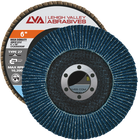"6"" x 7/8"" Zirconia High Density Flap Disc Type 27 Flat | 120 Grit T27 | LVA CFFAS60J120ZC"