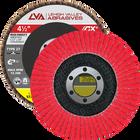"4.5"" x 7/8"" Ceramic High Density Flap Disc Type 27 Flat | 40 Grit T27 | LVA CFFAS45J040CP"