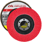 "5"" x 7/8"" Ceramic High Density Flap Disc Type 27 Flat   60 Grit T27   LVA CFFAS50J060CP"