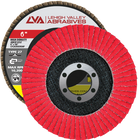 "6"" x 7/8"" Ceramic High Density Flap Disc Type 27 Flat | 80 Grit T27 | LVA CFFAS60J080CP"