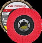 "6"" x 7/8"" Ceramic High Density Flap Disc Type 27 Flat | 120 Grit T27 | LVA CFFAS60J120CP"