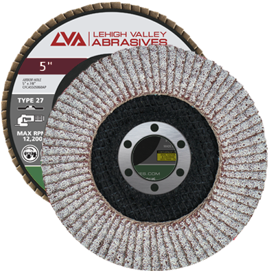 "5"" x 7/8"" Flap Disc for Aluminum Type 27 Flat 