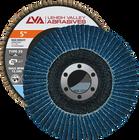 "5"" x 7/8"" Zirconia High Density Flap Disc Type 29 Conical | 24 Grit T29 | LVA CFCAS50J024ZX"
