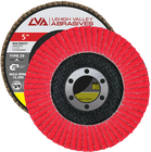 "5"" x 7/8"" Ceramic High Density Flap Disc Type 29 Conical | 40 Grit T29 | LVA CFCAS50J040CP"