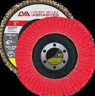 "5"" x 7/8"" Ceramic High Density Flap Disc Type 29 Conical | 80 Grit T29 | LVA CFCAS50J080CP"