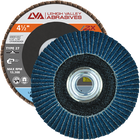 "4.5"" x 5/8""-11 Threaded Zirconia Flap Disc Type 27 Flat 