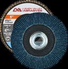 """6"""" x 5/8""""-11 Threaded Zirconia Flap Disc Type 27 Flat   40 Grit T27   LVA CFFAS60S040ZX"""