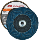 "7"" x 5/8""-11 Threaded Zirconia Flap Disc Type 27 Flat 