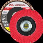 "4.5"" x 5/8""-11 Threaded Ceramic Flap Disc Type 27 Flat | 60 Grit T27 | LVA CFFAS45S060CP"