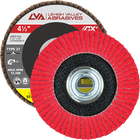 "4.5"" x 5/8""-11 Threaded Ceramic Flap Disc Type 27 Flat 