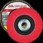 "6"" x 5/8""-11 Threaded Ceramic Flap Disc Type 27 Flat   60 Grit T27   LVA CFFAS60S060CP"