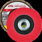 "6"" x 5/8""-11 Threaded Ceramic High Density Flap Disc Type 27 Flat   60 Grit T27   LVA CFFAS60J060CP"