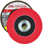 "6"" x 5/8""-11 Threaded Ceramic High Density Flap Disc Type 27 Flat   120 Grit T27   LVA CFFAS60J120CP"