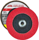 "7"" x 5/8""-11 Threaded Ceramic Flap Disc Type 27 Flat 