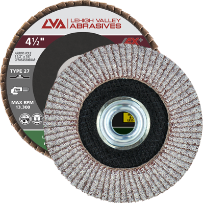 "4.5"" x 5/8""-11 Threaded Flap Disc for Aluminum Type 27 Flat 