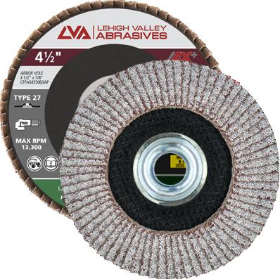 "4.5"" x 5/8""-11 Threaded Flap Disc for Aluminum Type 27 Flat | 60 Grit T27 | LVA CFFAS45S060AP"