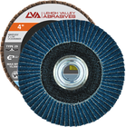 "4"" x 3/8""-24 Threaded Zirconia Flap Disc Type 29 Conical 
